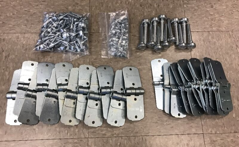 """46 Piece TODCO Style Trailer Roll Up Door Hardware Kit Lock /& Keeper 1/""""Rollers"""