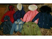 7 girls coats/jackets 5-6-7 yrs