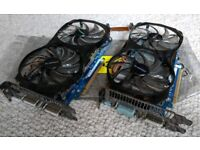 Pair of Gigabyte Graphics cards GTX 560 1GB GDDR5 PCI 2x Bitcoin