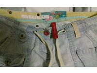 Ladies river island 3/4 length jeans size 12