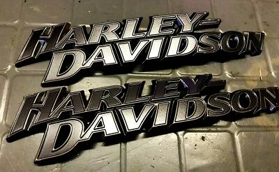 OEM Harley Davidson Softail Street Glide Fat boy Fuel Gas Tank Emblems 2