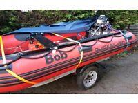 Inflatable boat & motor & trailer
