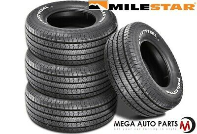 4 Milestar Streetsteel P235/60R15 98T White Letters All Season Muscle Car Tires
