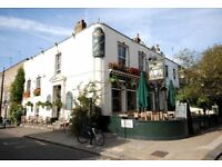 Full time Bar & Waiting Staff needed in busy Gastro Pub in South Kensington