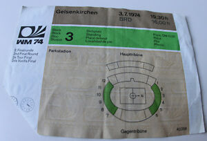 Ticket for collectors World Cup 1974 * DDR East Germany Argentina Gelsenkirchen - <span itemprop=availableAtOrFrom>Internet, Polska</span> - Ticket for collectors World Cup 1974 * DDR East Germany Argentina Gelsenkirchen - Internet, Polska