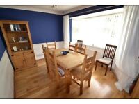 Dining table, chairs and two cabinets