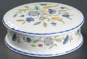 Minton HADDON HALL BLUE (BLUE TRIM) Trinket Box 7880047