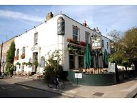 Full time bar & waiting staff in busy Gastro Pub/Restauraunt in South Kensington
