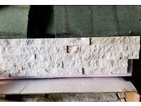 Glittery brick slip tiles
