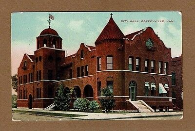 Coffeyville Ks Kansas City Hall  Circa 1910