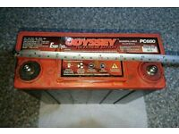 Odyssey AGM motorbike / motorcycle battery PC680 (x2)