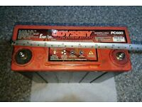 Odyssey AGM motorbike / motorcycle battery PC680 (x2)