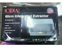 NEW BOXED CDA EIN 60S 60CMS INTEGRATED EXTRACTOR HOOD.