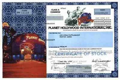 Planet Hollywood 1999 Delaware Bruce Willis Demi Moore Schwarzenegger Stallone #