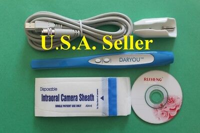 Daryou Dy-50 Intraoral Camera Dental Camerabutton Work In Most Dental Software