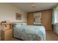 Bedroom furniture set- wardrobe & headboard with integrated bedside cabinets