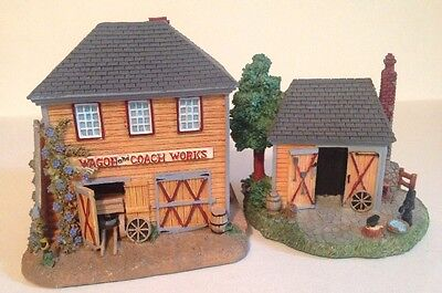 2 Houses LIBERTY FALLS VILLAGE COACH & WAGON WORKS and GRISWOLD'S WORKSHOP