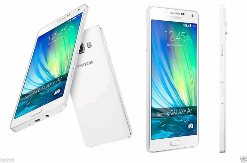 Samsung Galaxy A7 Duos SM-A7000 4G Dual Sim LTE White 16GB Factory UNLOCKED