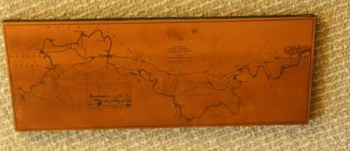 Vtg. Etched Copper London Map
