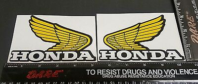 HONDA YELLOW WINGS MOPED MOTORCYCLE DIRTBIKE DECAL GRAPHICS STICKER CR ATC Z50