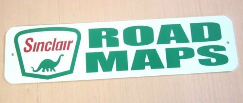 SINCLAIR ROAD MAPS SIGN GASOLINE SERVICE STATION TRAVEL MAP ROAD TRIP VACATION