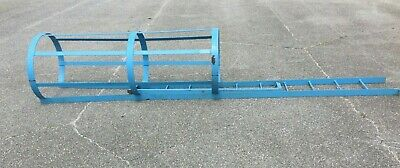 Industrial Fixed Ladder W Safety Cage Ladder Dims 112l X 16w