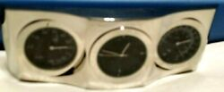 Desktop Home Office Silver Mini Clock Cute & Unique & Rare with °F  & °C NEW