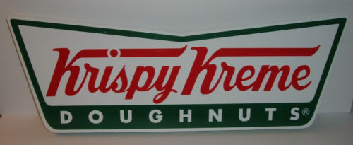 Krispy Kreme Signs Rare Collectible Advertising Lot of 2 Signs