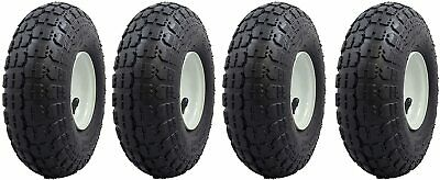 4 Tire Set 10 Steel Air Pneumatic Hand Truck Dolly Wagon Industrial Wheel