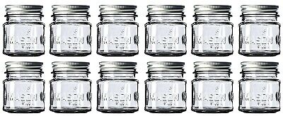 Mason Jar Ounces (8 oz Mason Jars with Lids and Bands (12-Count), For Food)