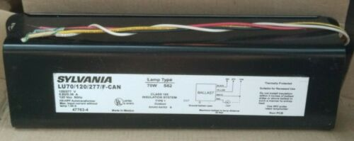 SYLVANIA 47763-4 LU70/120/277/F-CAN 70W Type S62 120-277V High Pressure Ballast