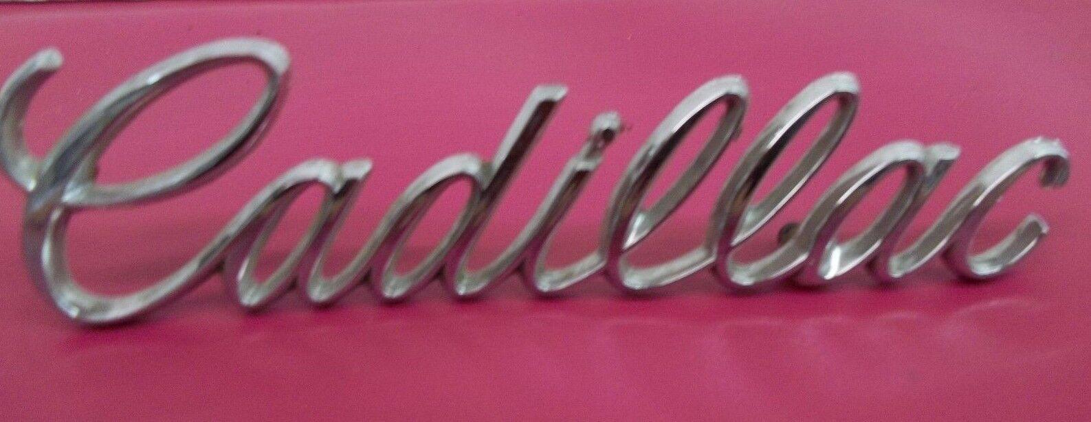 Vintage Cadillac 1980's Script Emblem