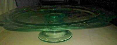 Indiana Glass Glass Cake Stand (Indiana Glass Madrid Teal Blue Glass  Cake Plate Stand Pedestal)