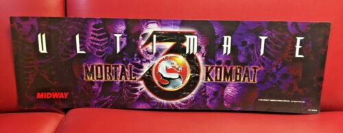 Original 1995 MORTAL KOMBAT 3 Marquee Coin Op Video Arcade NOT A REPRODUCTION!