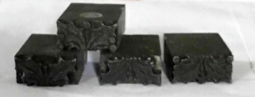 Lot 4 Letterpress Printing Blocks * Holly & Berries * Christmas Print Design