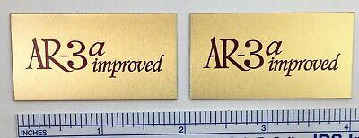 AR-3a improved Acoustic Research Speaker Badge Logo Emblem