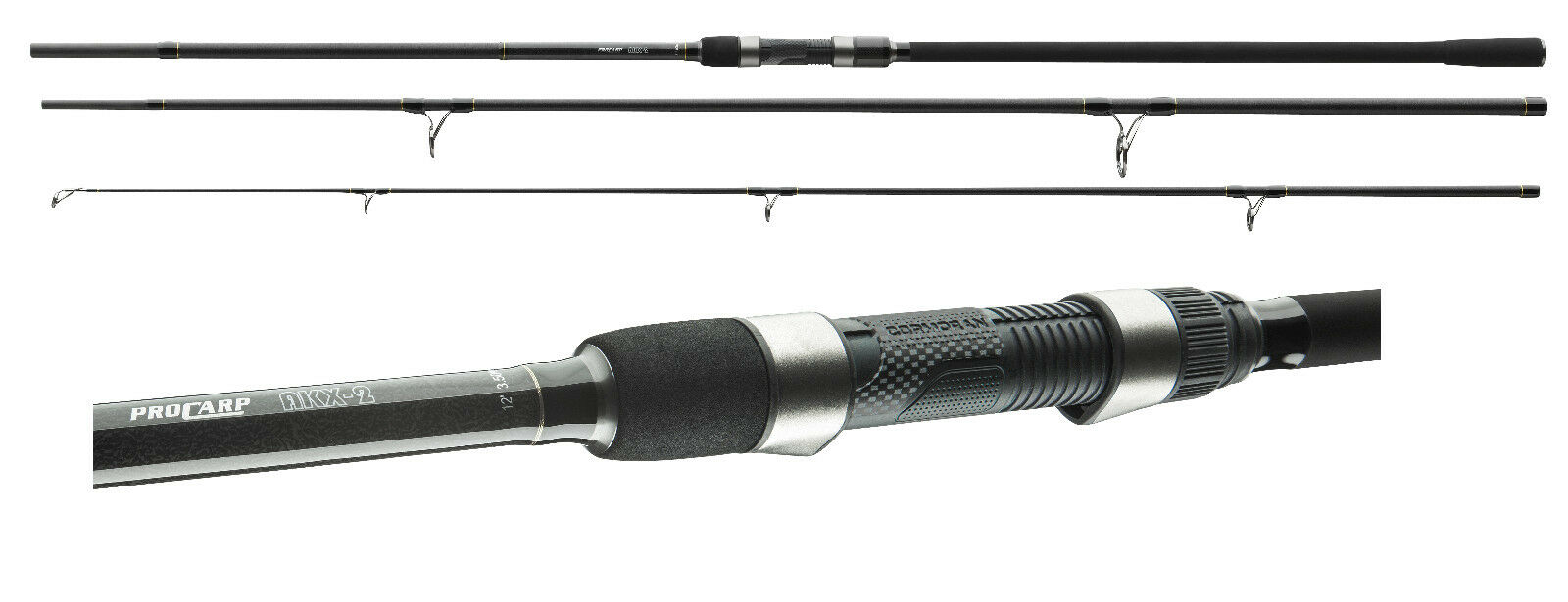 Cormoran Pro Carp AKX-2 3,60m / 3,0lbs Karpfenrute 3-teilig Karpfenangel Rute
