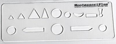 Wortartenschablone, Schablone für Wortartensymbole - Montessori-Material