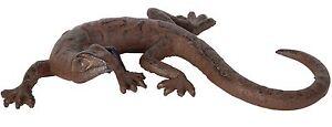 1 Salamander Eidechse Gecko Echse Deko Garten Guss Gusseisen 19,5 cm lang Neu