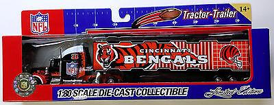 Cincinnati Bengals Tractor-Trailer 1:80 Die Cast PETERBILT by - Cincinnati Bengal
