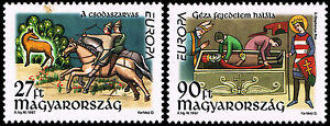 Węgry Hungary 1997 Mi 4455-56 MNH EUROPA - <span itemprop=availableAtOrFrom>Pustków, Polska</span> - Węgry Hungary 1997 Mi 4455-56 MNH EUROPA - Pustków, Polska