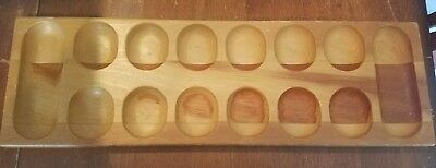 Wood Mancala Replacement Game Board Only Without Marbles Great American Trading (Mancala Marble Game)