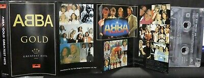 ABBA Gold Greatest Hits CASSETTE TAPE ~ RARE THAILAND Polydor 4 FOLD SLEEVE L@@K