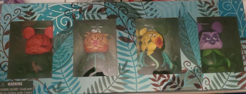 "Disney 3"" Vinylmation Alice In Wonderland Flowers Set Of 4 Limited Edition 2000"