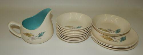 Lot of Vintage Salem Biscayne China Dinnerware Dishes Gravy Pitcher Bowls Plates