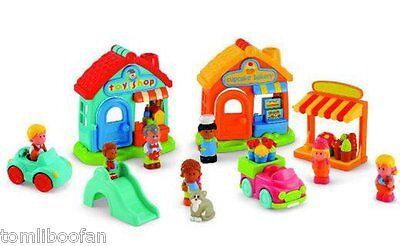 ELC Happyland Village Playset Inc Toy Shop/Bakery/Florist & 7 Characters