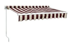 Brand New Maroon and White Awning.