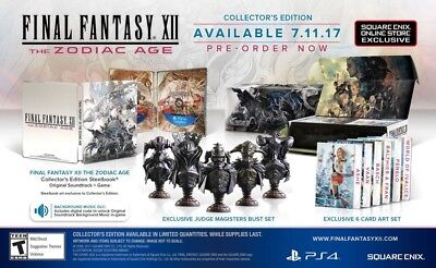New Final Fantasy Xii 12 The Zodiac Age Collectors Edition Ps4