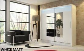 SPECIAL OFFER! Wardrobe kola white with sliding doors mirror