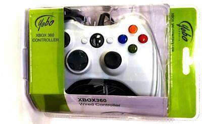 Yobo Xbox 360 con Cable Juego Mando para Blanco Microsoft 360 Consola